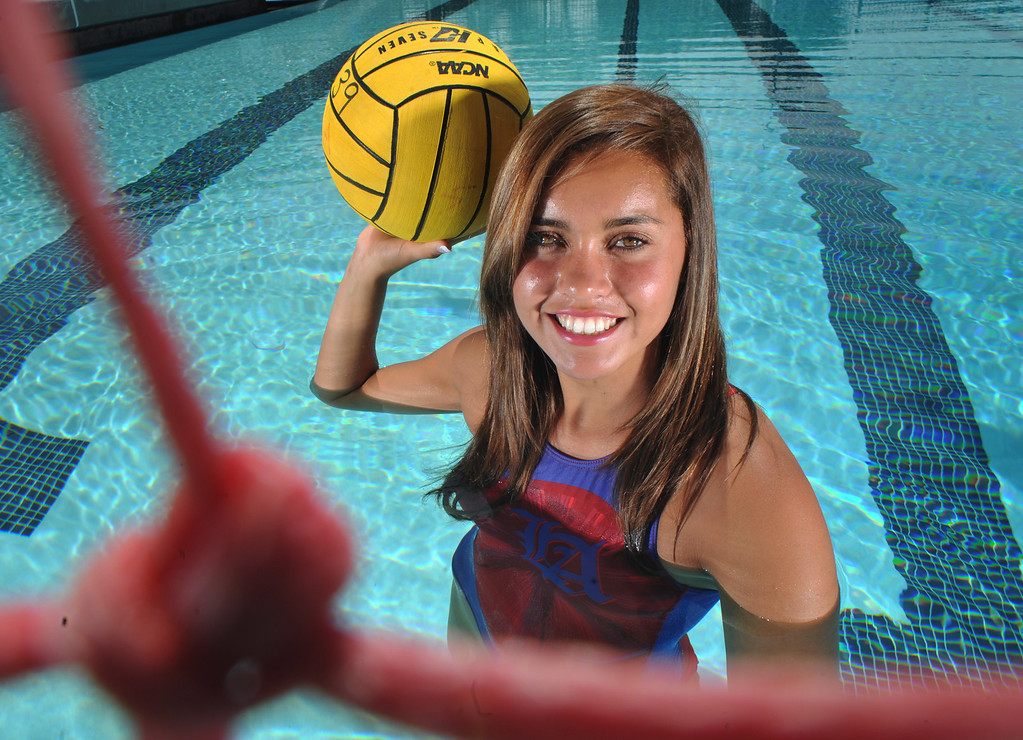 . Los Altos\' Stephanie Contreras was selected as the San Gabriel Valley Tribune girls Water Polo Player of the Year on Friday March 29, 2013. (SGVN/Staff Photo by Keith Durflinger)
