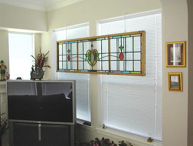 Sitting room adjacent to the master bedroom - Early 20th century English stained glass