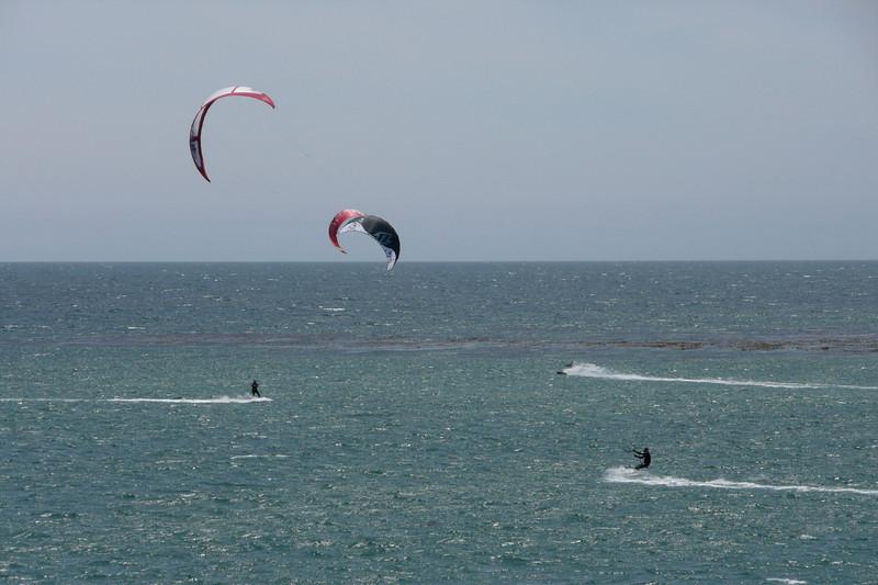 Kite Surfers. Lighthouse State Beach, Santa Cruz