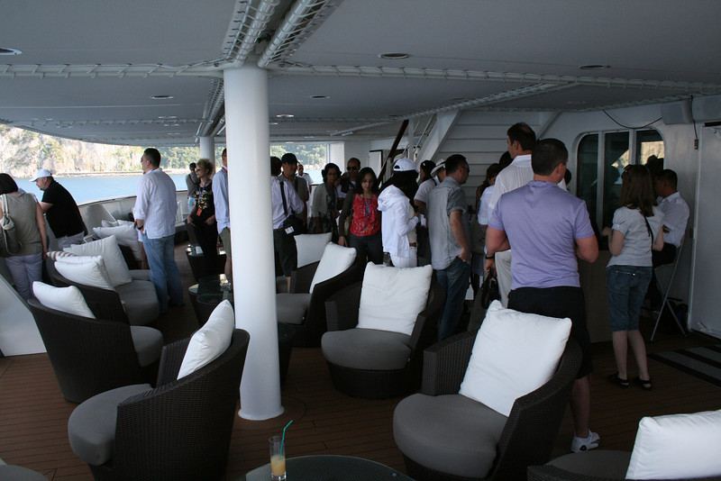 2011 - On board M/S L'AUSTRAL : waiting tender to disembark.