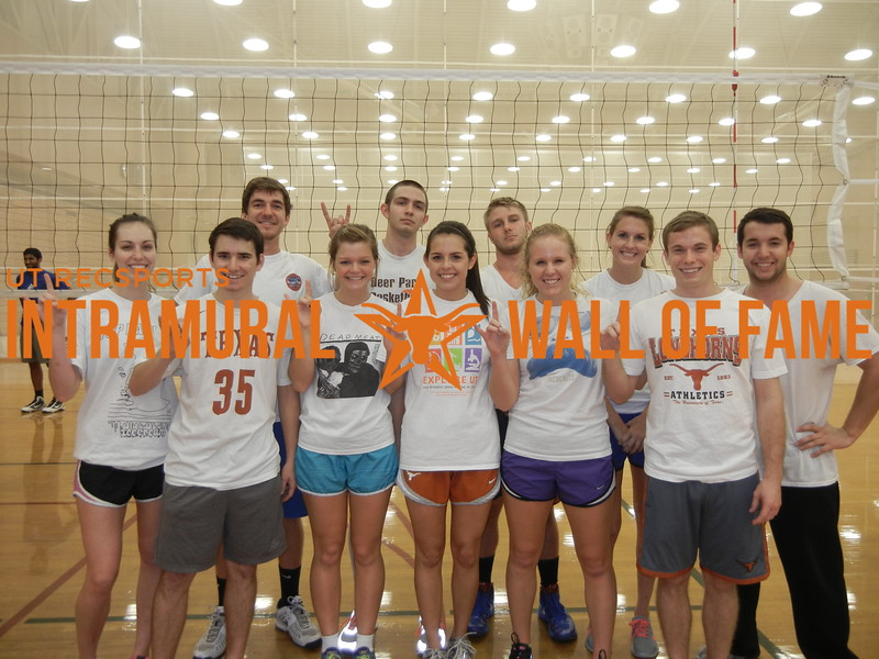 VOLLEYBALL Coed C Runner Up  Hardcore Horn Stars  R1: Brandon Sperling, Shelby Marshall, Amanda Aparicio, Kristen Pankratz, Alexander Unger R2: Jena Cameron, Tucker Hopkins, Kevin Layton, Spencer Mosley, Jordan Youngblood, Thomas Kehoe Not Pictured: Kylie Hopkins