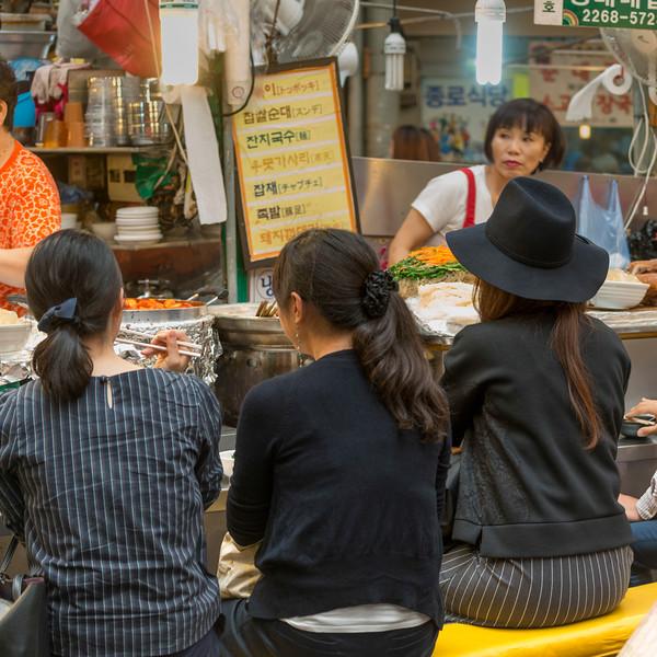 Women at restaurant, Dongdaemun Market, Seoul, South Korea