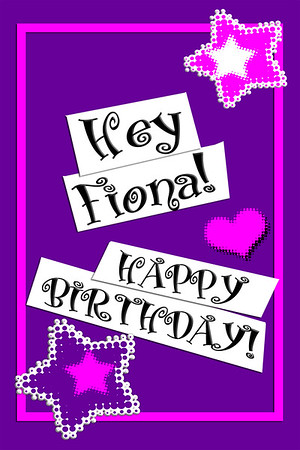 Fiona's Virtual Birthday Wishes ~ 04.11.2020