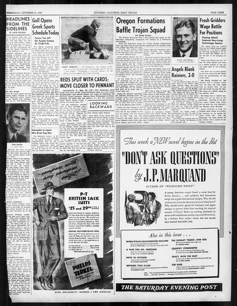 Daily Trojan, Vol. 31, No. 9, September 27, 1939