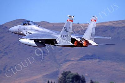 AFTERBURNER: Air National Guard McDonnell Douglas F-15 Eagle Jet Figher Afterburner Pictures