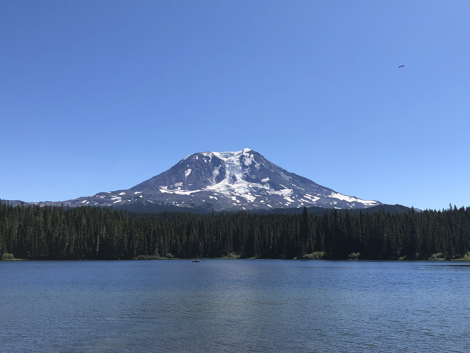 Mt Adams seen from Takhlakh Lake Campground
