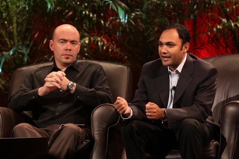 FiReStarters I: Jim Sink (L), VP, Business Development, Avatar Reality; and Ravi Chiruvolu, Board Director, Rearden Commerce
