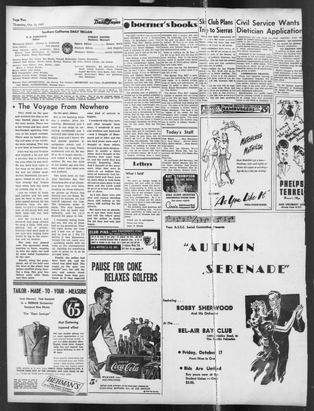 Daily Trojan, Vol. 39, No. 24, October 16, 1947