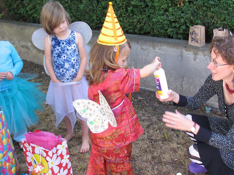 Birthday Mulan Fairy opens her gifts