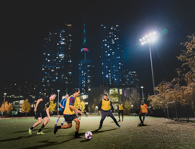 Toronto CityPlace Soccer - Night