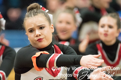 1-06-2018 Quince Orchard HS Poms at Blake HS Poms Invitational, Photos by Jeffrey Vogt Photography