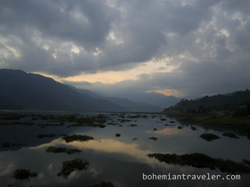 sunset from the north shore of Phewa Tal Pokhara (2).jpg