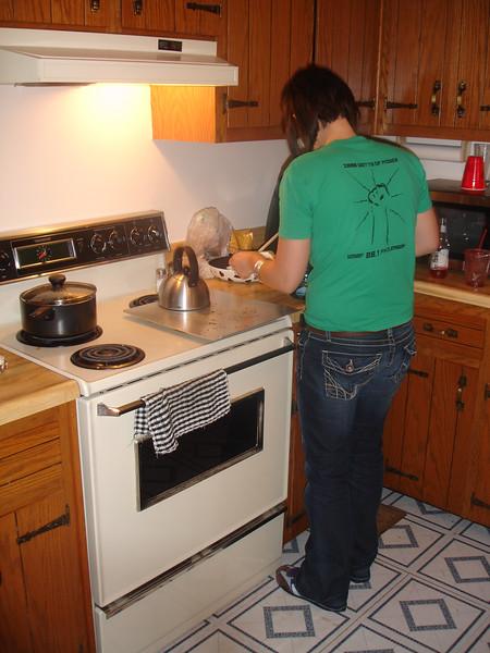Kells makes us dinner!