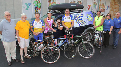 Rotary Pedals Out Polio, YMCA, Tamaqua (6-20-2012)
