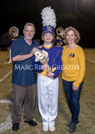Broughton varsity football vs Cardinal Gibbons. Band and Dance Team Senior Night. October 25, 2019. MRC_3725