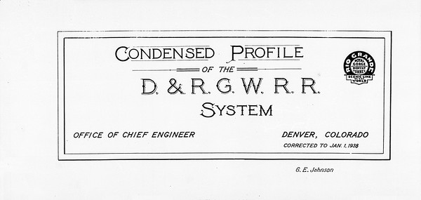 D&RGW 1938 Track Profiles