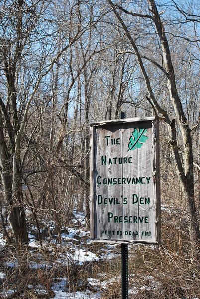 Devils Den Preserve Hike 02/20/10
