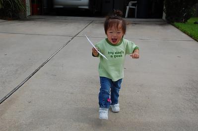 July 23, 2008 - My Daddy is NOT a NERD he is a GEEK!!