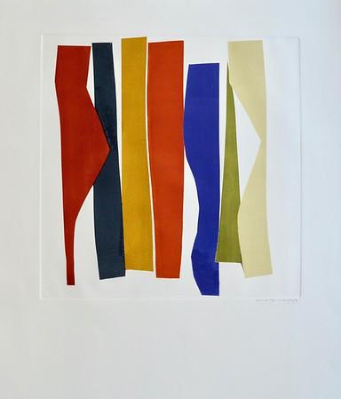 Strip Series I-Mackey, monoprint on 22x30 paper