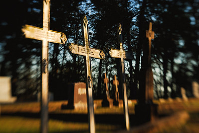 In Cemeteries
