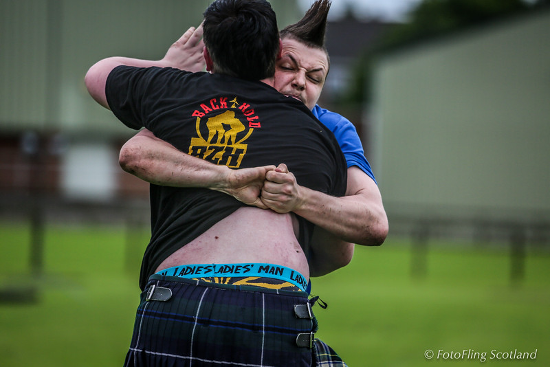 Backhold Wrestling at Cupar Highland Games 2014