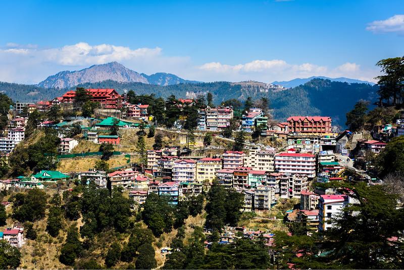 Shimla skyline- North India