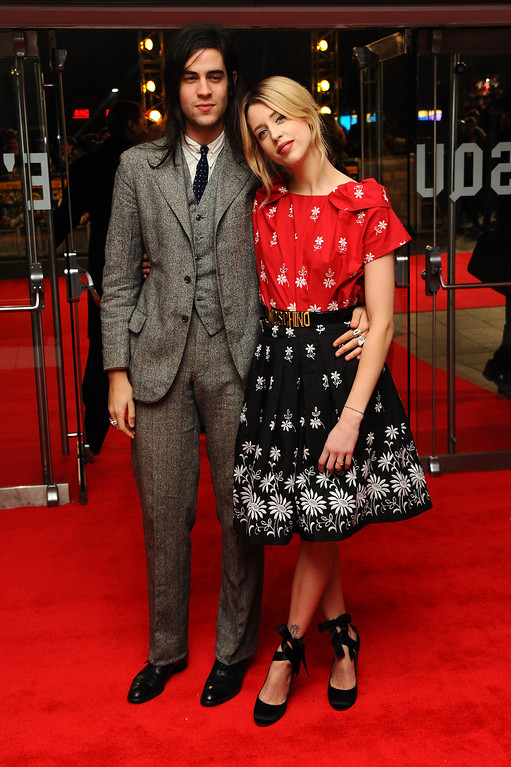 . Peaches Geldof and Thomas Cohen attend the UK Premiere of The Wolf of Wall Street at London\'s Leicester Square on January 9, 2014 in London, England.  (Photo by Anthony Harvey/Getty Images for Universal Pictures)