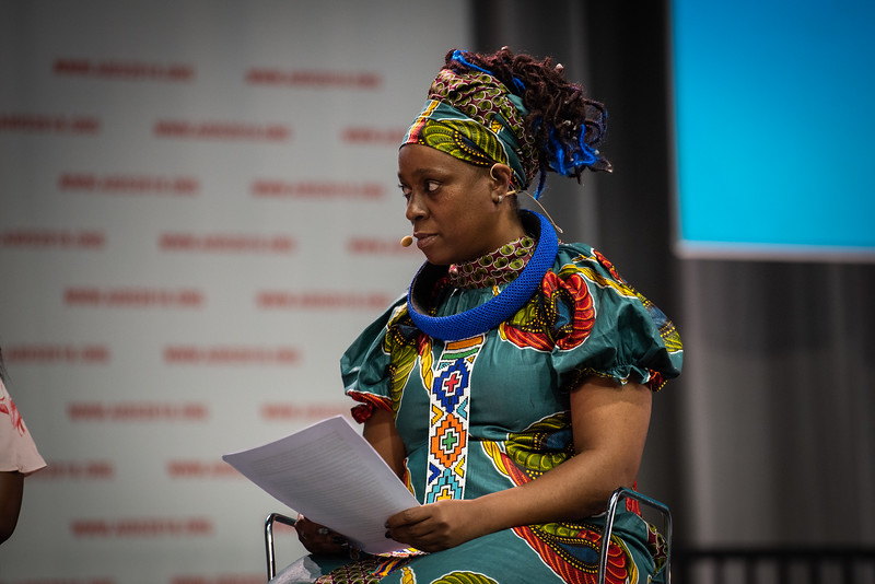 22nd International AIDS Conference (AIDS 2018) Amsterdam, Netherlands.   Copyright: Steve Forrest/Workers' Photos/ IAS  Photo shows: Special Session: The legacy of Prudence Mabele: Championing gender justice and health equity. Yvette Raphael, APHA, South Africa.