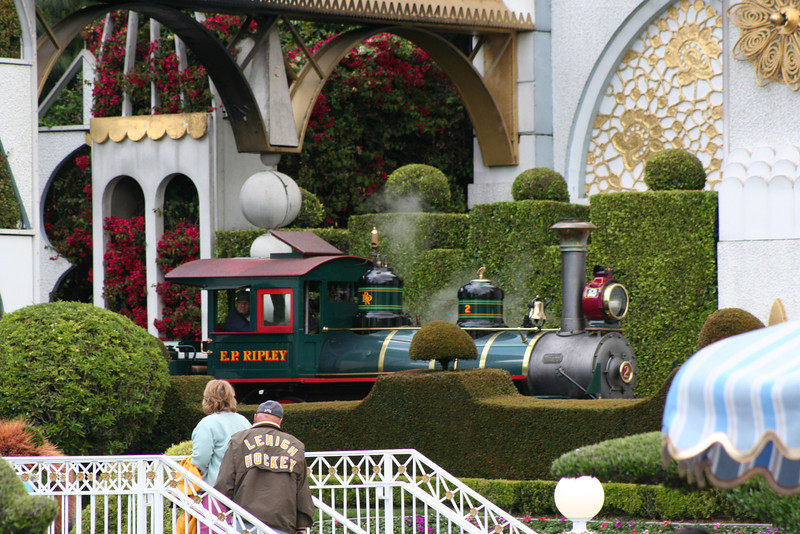 Train going through It's a Small World