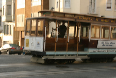 Crossing cable car