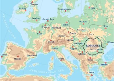Romania_Itinerary_Map