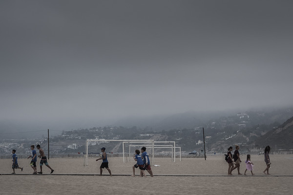 June 23 - Overcast day at Will Rogers Beach, Los Angeles.jpg