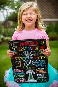 9-7-16 Parker's 1st Day of Pre-K