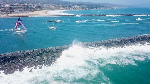 Newport Beach Wedge Aerial Photos July 4, 2020