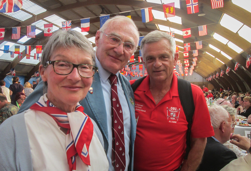 Yvette Renaud, Henri-Jean Renaud and Ron (photo courtesy of Judy Baird)