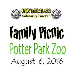 UAW 602 Picnic Potter Park Zoo 2016