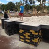 Raised sandpit with accessible bays