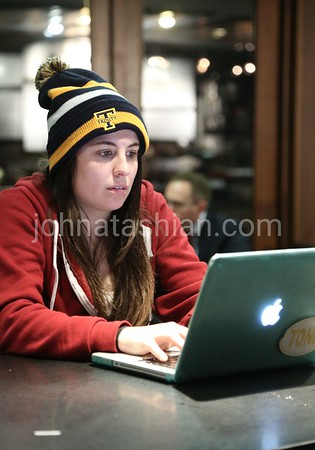 Trinity College - Students Studying in Raether Library - December 11, 2014