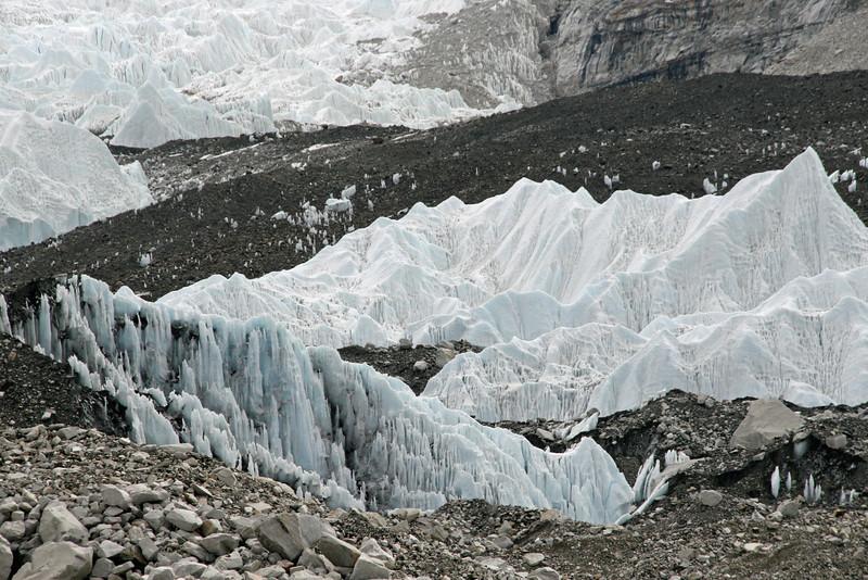 Walking on the glacier