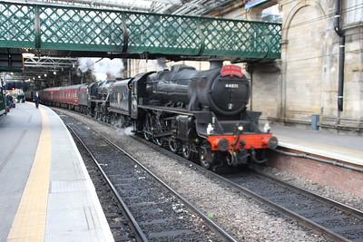 Black 5's at Edinburgh Waverley