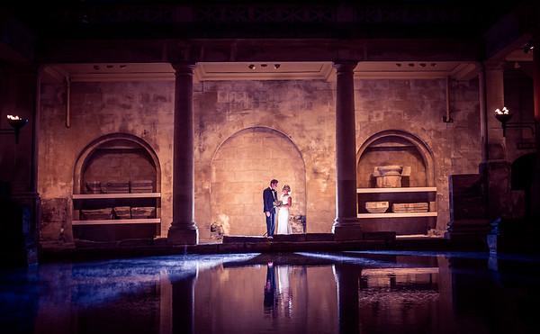 Heather & Joe Wedding, Roman Baths