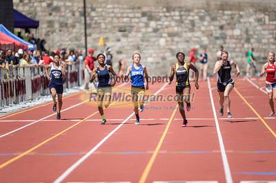 D2 Boys and Girls 200M Prelims - 2014 MHSAA LP T&F Finals