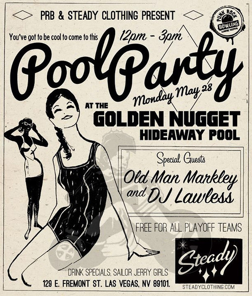 Pool Party with Old Man Markely at the Hideaway Pool - at The Golden Nugget Hotel - Las Vegas, NV - May 28, 2012