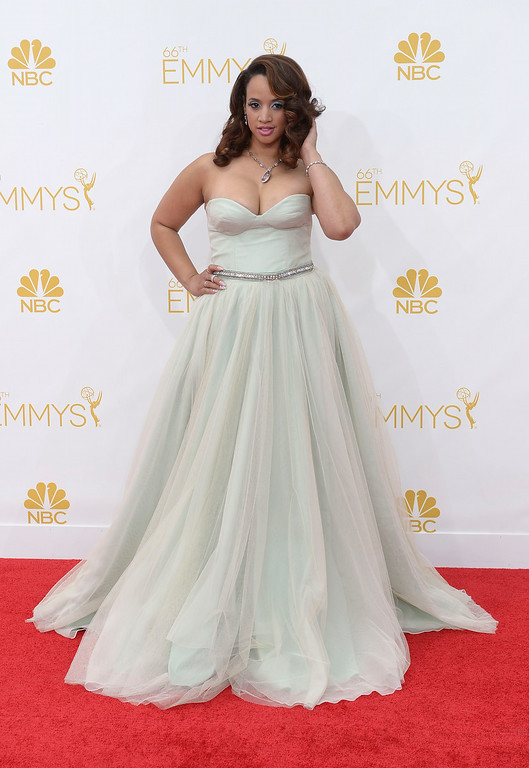 . Dascha Polanco on the red carpet at the 66th Primetime Emmy Awards show at the Nokia Theatre in Los Angeles, California on Monday August 25, 2014. (Photo by John McCoy / Los Angeles Daily News)