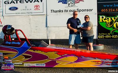 2018 - Oahe Speedway  Winners Circle - 05-27-18