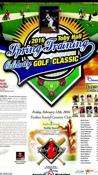 2016 Toby Hall Spring Training Celebrity Golf Tournament