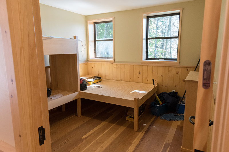 One of three bunkrooms on the main floor of the new Ravine Lodge. Photo by David Kotz '86.