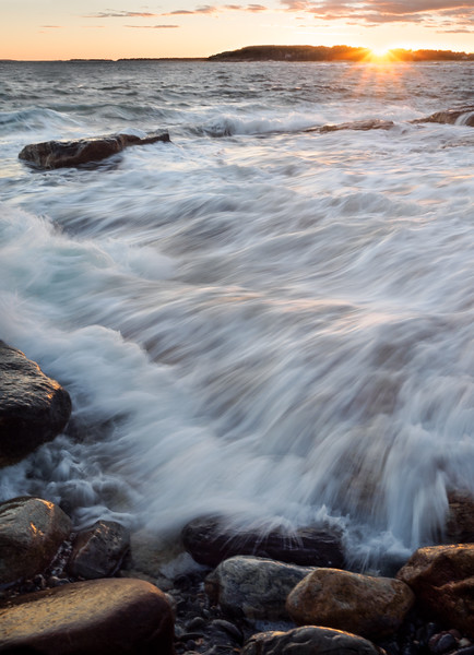 Wild Waves at Sunset, East Boothbay, Maine  (230211-230235)
