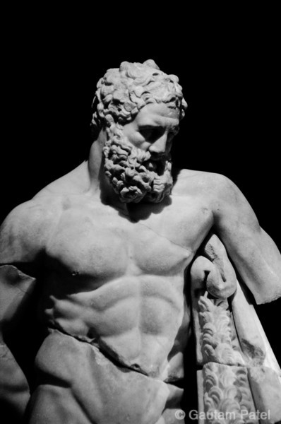 Statute of Heracles, Antalya Museum : Turkey June 2012