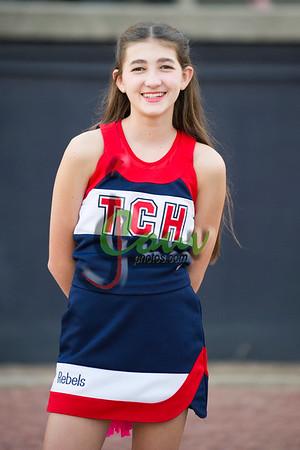 2016 TCHjv Cheerleaders at Carencro game